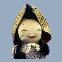 """Vintage Large 17"""" Chinese Asian Cloth Doll"""