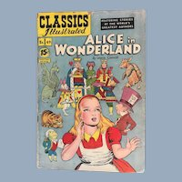 1948 Classics Illustrated #49 ALICE in WONDERLAND Gilberton Comic Book