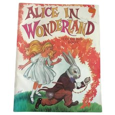 Vintage Alice in Wonderland Coloring Book