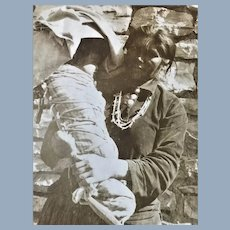 Old Native American Indian with Papoose Photograph