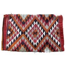 Antique Moroccan Kilim Tribal Wool Textile Middle East Indian Saddlebag Rug