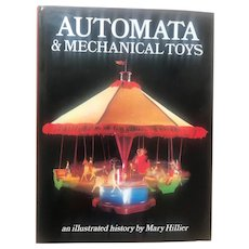 Vintage Automata Mechanical Automaton Clockwork Dolls Toys Book by Hillier Book