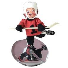 """Vintage 1995 Annalee Ice Hockey 8"""" Doll"""