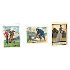 Old Baseball Tennis Golf Poster Stamp Lot
