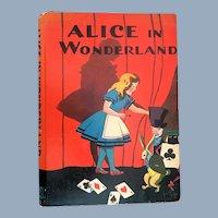 Vintage Alice in Wonderland McLaughlin Children's Book 1930s Magic Theme Cover