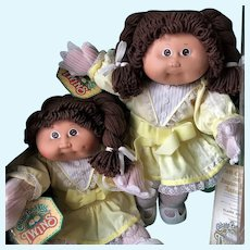 Vintage 1985 Cabbage Patch Kids Twin Dolls in Box