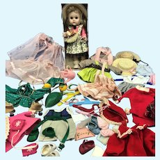 1950s Vogue Ginny Doll in Box with >50Pc Wardrobe