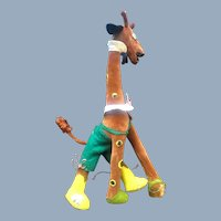 Vintage Lenci Cloth Doll Family Giraffe Character Toy