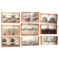 Antique Gloucester Ma. Cape Ann Rockport Stereoview Card Photograph Lot