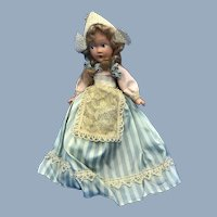 "Antique Composition 11"" Dutch Holland Doll Crisp A+ Condition"