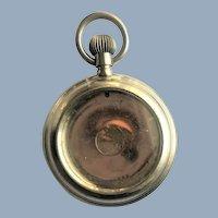 Large Antique Doll Pocket Watch Display Case Veni Vidi Vici Julius Caesar