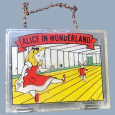 Unusual Vintage Alice in Wonderland Child or Doll Purse