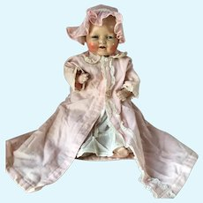 EIH Horseman Dimples Bubbles Composition Baby Doll 1930s