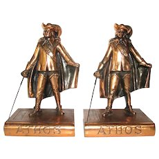 Musketeer Athos Bookends