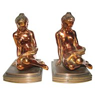 Lorenzl Lady, Petite Bookends by Ronson