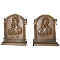 Charles Dickens Bookends by Bradley and Hubbard