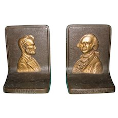 Lincoln & Washington Bookends by Bradley & Hubbard