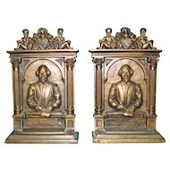 "Shakespeare ""Blest Be The Man"" Bookends by British"