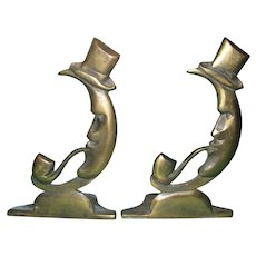 Man in the Moon Bookends