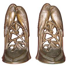 Lovebirds Whispering Bookends by Acorn Company