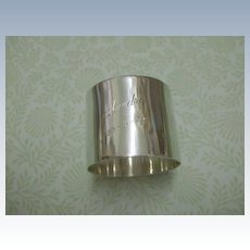 """Sterling Napkin Ring """"Andre""""  29/3/36 English Hallmarked"""