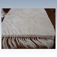 "24 x 52"" Huck Linen Damask Show Towel (3 Available)"