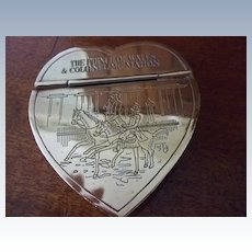 """""""The Prince Of Wales & Colonel McMahon"""" Brass Snuff Box"""