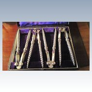 Boxed Set Of Silver Plated Nut Crackers