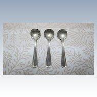 "Set Of 3 Sterling Salt Spoons, ""Commonwealth"""
