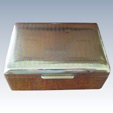 Vintage Brass State Express Cigarette Box