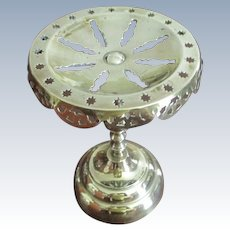 Victorian English Brass Kettle Stand