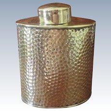 Joseph Sankey & Sons Brass Tea Caddy  C:1900