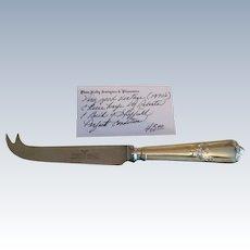 English Roberts & Belk Cheese Knife C:1970