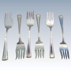 "Set Of 6 ""George Washington"" Forks ""G"" C:1913"