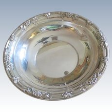 "10"" Sterling ""Wild Rose"" Bowl"
