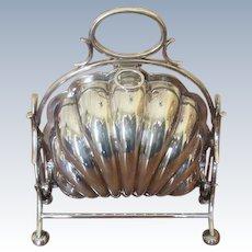 English Silver Plated Bun Warmer