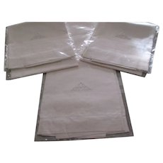 Set Of Three Oversized  Linen Towels With Monogram