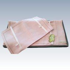 1950's Webb's Irish Linen Tablecloth With 6 Napkins