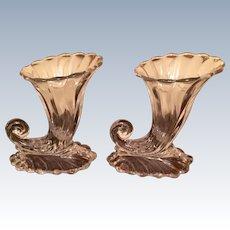 """Pr. Heisey """" Warwick"""" Cornucopia Vases"""