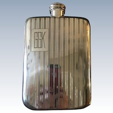 English Silver Plated Flask C:1925