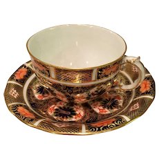 """""""Old Imari""""  #1128 By Royal Crown Derby Cup And Saucer (5 Available) - Red Tag Sale Item"""