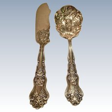 """""""Moselle"""" By American Silver Co. Sugar Shell And Master Butter"""