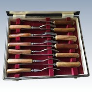 12 Pc. Stag Handle Forks and Knives