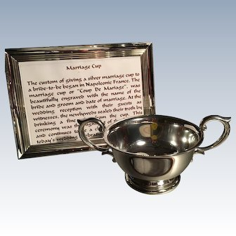 Handled Pewter Marriage/Christening Cup