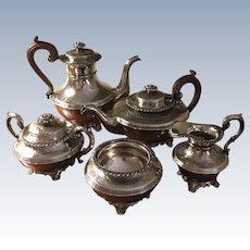 Ellis Barker Silver Plated 5 PC Tea/Coffee Set