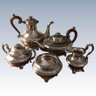 Ellis Barker Silver Plated 5 PC Tea/Coffee Set