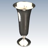 """English Silver Plated 9"""" Vase"""