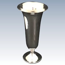 "English Silver Plated 9"" Vase"