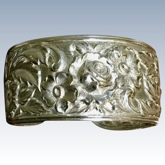 "Kirk 19F Sterling ""Repousse"" Cuff Bracelet (4 Available)"