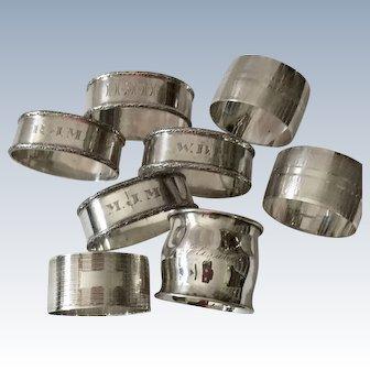 Sterling Lot Of Napkin Rings